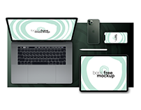 Free PSD Macbook Pro, iPad Pro & iPhone 11 Pro Flatlay