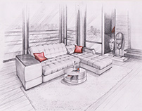 Illustration. Furniture design