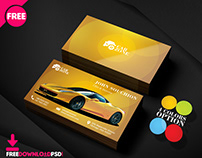 Automotive Business Card Templates Psd