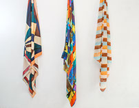 Watercolour Stripe Scarves for the Cassiopeia Project