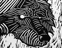 """Fantastic Mister"" - Fox Linocut Print"