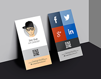 Free Vertical Business Card Design & Mock-up PSD
