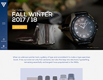 Creative E-commerce Web Page Design.