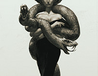 Woman with snakes