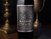 Ravage Wine Label & Packaging