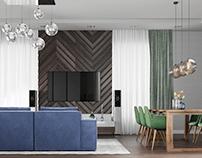 Дизайн проект гостиной в Коттедже г.Москва