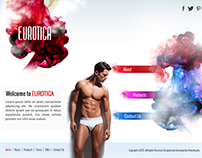 Eurotica Innerwear Website Homepage Design