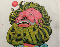 Comedy of Beards - Editorial Illustraton Assignment
