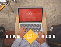 5 PSD Mockups Bike Ride