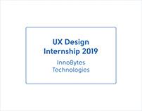 Summer Internship (UI/UX Design — InnoBytes)