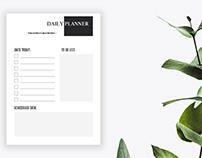 Free Minimalist Daily Planner Printable Vol.1