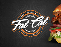 fat-cat burger & hot-dog rebranding