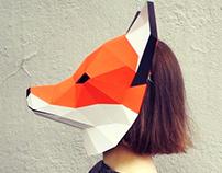 Papercraft masks: fox&panda