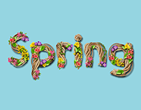 Custom Typography for a Spring Campaign