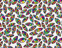 Prism Leaves Repeat Pattern