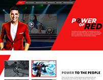 Eveready - Power of Red (Launch Website)