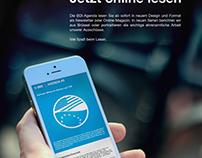 Onlinemagazin BDI Agenda || Anzeige + Icons