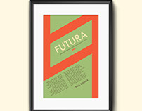 Typographic Poster: Ode to Futura