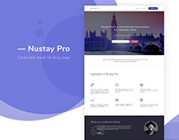 Nustay Pro - Landing Page