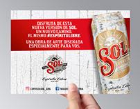 Cerveza Sol · Postales y Tarjetones
