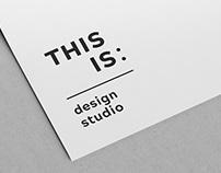 Studio THIS IS branding design