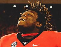 Georgia Football Photography