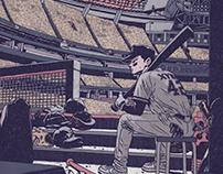 A baseball player