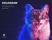 Hologram Photoshop Action