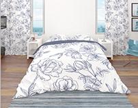 Coastal Style Bedding Mockup Set
