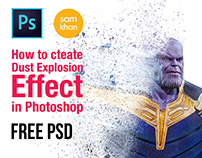 how to create Thanos Dust Explosion Effect In Photoshop