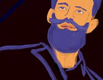 Textured Portrait of a Man