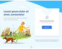 Modern flat website Design