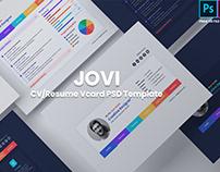 Jovi- CV Resume / Vcard PSD & XD Template