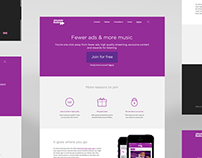 Account sign up landing page