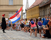 In Zagreb, the changing of the Cravat Regiment Guard