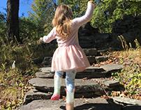 Skater Girl. Kid's Leggings, Textile.