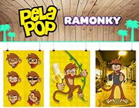Mascota para la nueva imagen de PelaPop: Ramonky.
