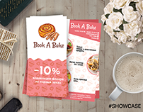 Flayer for Book A Bake