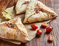 Calzone & Fatay- Food Photography