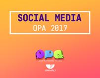 Social Media - UNIVALI OPA 2017