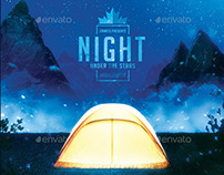Camping Nights - Backpacking, Hiking Flyer Template