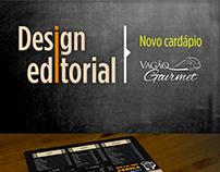 NOVO CARDÁPIO VAGÃO GOURMET