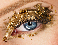 Beauty Gold Eye - Emilie Desmeules Art