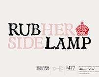 Rub Her Side-Lamp Typeface design.