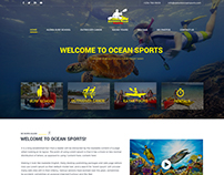 Ocean Sports Website UI Design