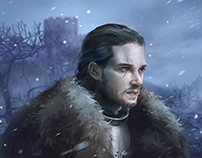 John Snow- Game of thrones fan art