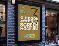Outdoor Advertising Screen Mock-Ups 2
