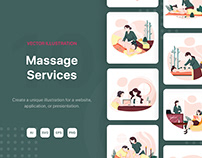 Massage Service Illustrations