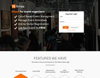 Odash login landing page of 10times dashboard