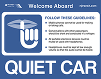 Physical UX: Redesigning NJ Transit's Quiet Car Sign